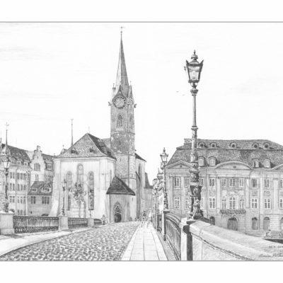 Münsterbrücke mit Fraumünster